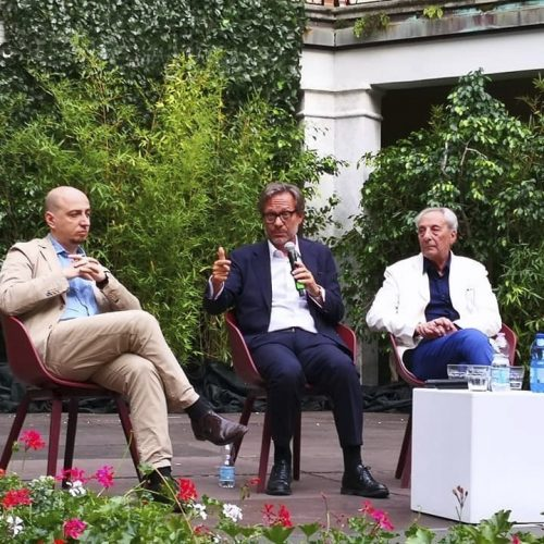 Gianfranco Maraniello, Massimo Recalcati, Aurelio Amendola