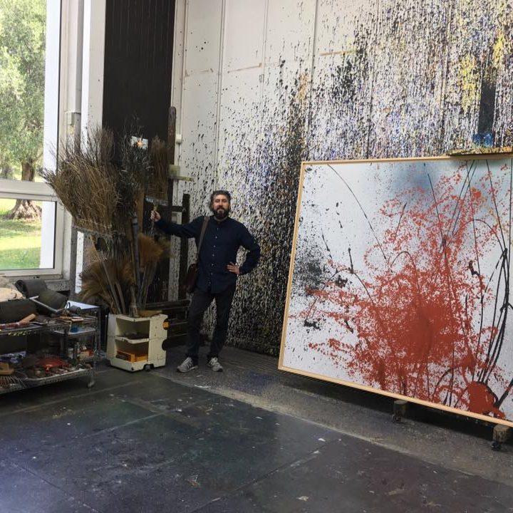 Magonza allo studio di Hans Hartung